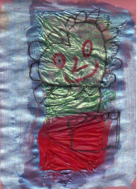 Peinture sur papier de soie pour enfants d'âge préscolaire