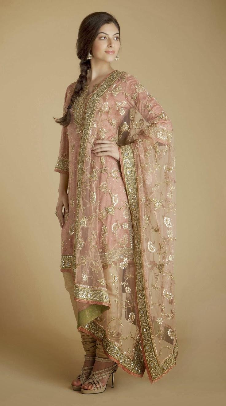 Punjabi Suits Neck Designs 2014 Party Wear New Fashion ...