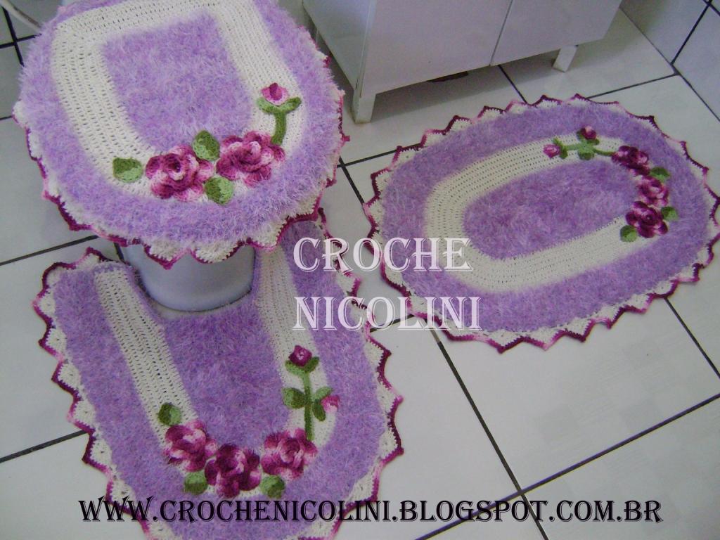 Croche Nicolini: JOGO DE BANHEIRO #642847 1024x768 Balança De Banheiro Quanto Custa