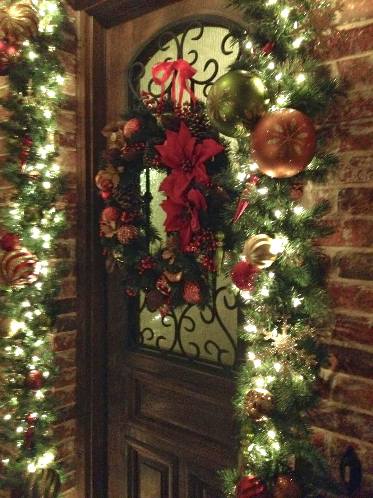 Decorate the christmas tree fa la la la -  Packs Of Shatterproof Ornaments From Costco I Was Able To Dress Up The Front Door Wreath And Garland With Glittery Old Fashioned Looking Decorations