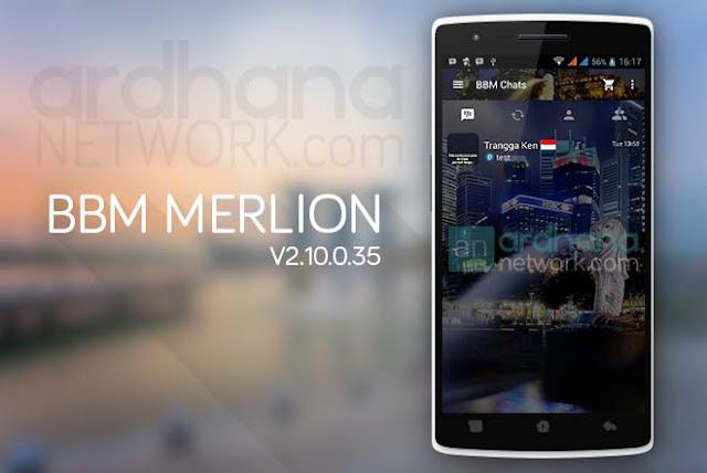 BBM Merlion - BBM Android V2.10.0.35