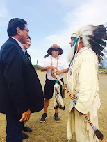 Navajo President, Vice President arrive on Standing Rock, greet Northwest Delegation