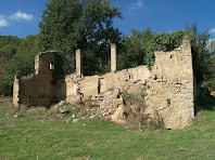 La façana de llevant del Molí de Bernadàs