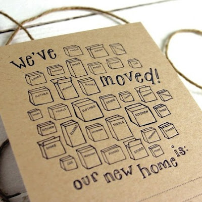 letterpress moving announcements