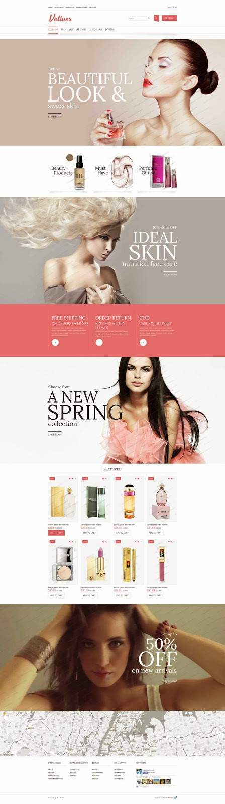 Download Free Contemporary-Style Free OpenCart Cosmetics Store Theme