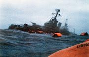 El hundimiento del Buque Gral. Belgrano el 1 de Mayo de 1982 por torpedos .