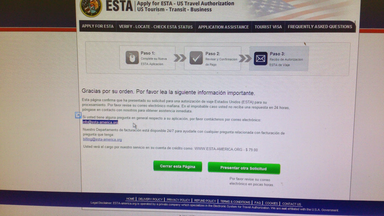 ESTA - Welcome to the Electronic System for Travel Authorization