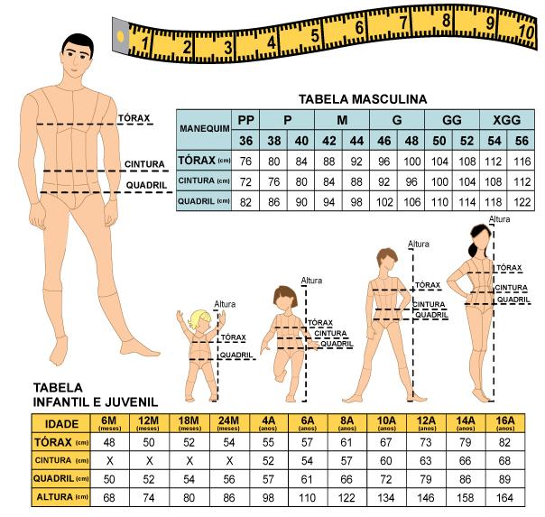 Roupas masculinas terão novas medidas a partir de março
