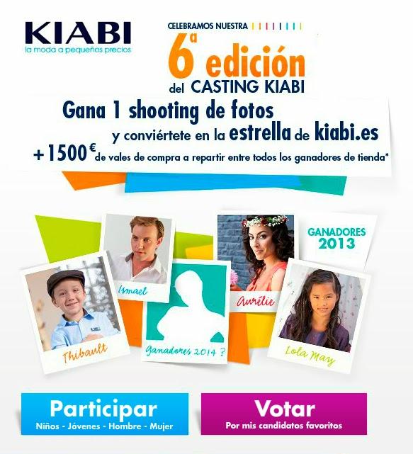 Casting kiabi 2014 infantil mujer hombre joven