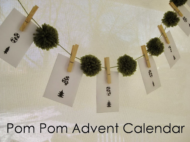 Handmade Calendar Tutorial : My handmade home tutorial diy pom advent calendar