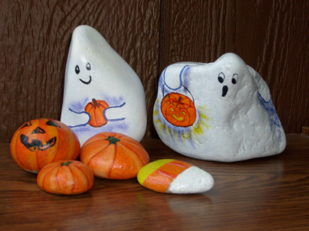 halloween rock painting design ideas