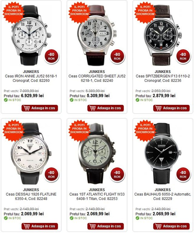 Vedeti oferta completa cu reduceri la ceasuri