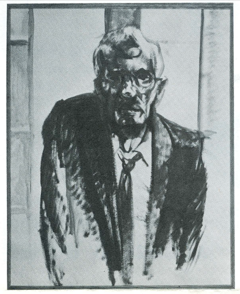 Image of Francis Quirk painting Portrait of the Artist #3