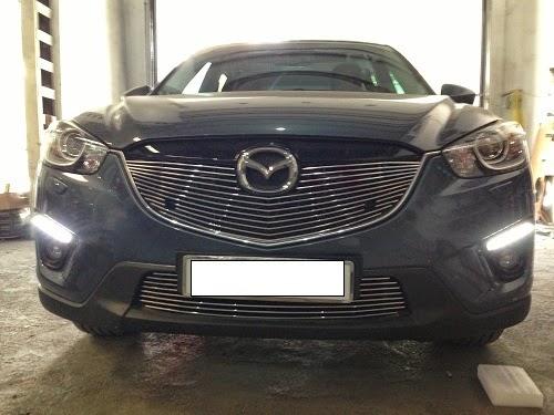 Mặt ca lăng thanh ngang| Mặt ca lăng Mazda CX5| Ca lăng Bently cho Mazda CX5