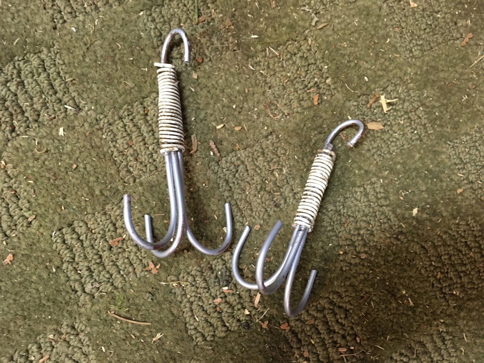 I did these hooks out of copper wire but did not like the color.