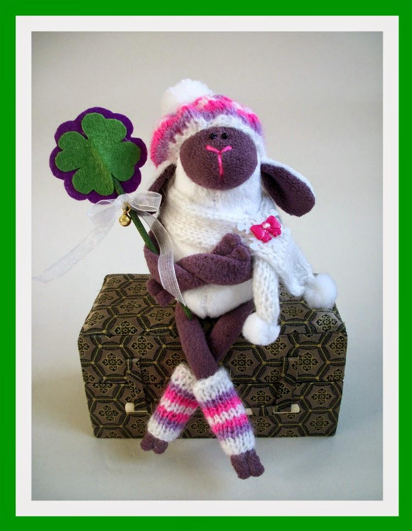 овечка, игрушка хендмейд, символ 2015 года