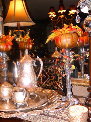 Southern Charm: Leopard Print and Pumpkins