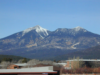 The San Francisco Peaks north of Flagstaff, Arizona