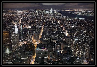 Nueva York desde el Empire State Building USA Estados Unidos noche night trip viaje costa a costa