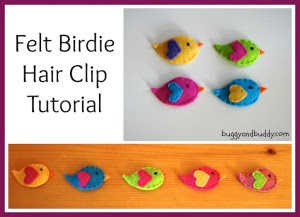 felt birdie clips