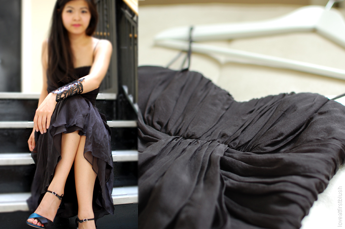 statement cuff and black gown