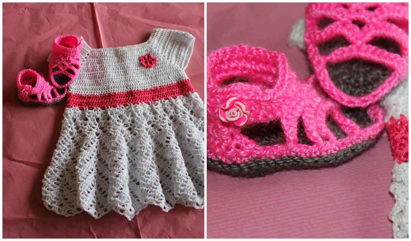 db724a69df Vestidito recien nacido de perle tejido a crochet. Vestido 30 ...