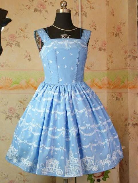 Sweet Snowy Castle Rococo Lolita Dress