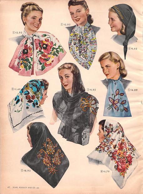 vintage clothing love 1940's scarves