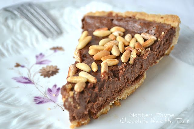 Chocolate Ricotta Tart | www.motherthyme.com