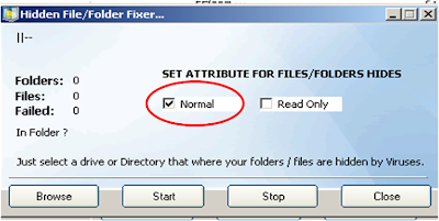 fix hidden files-folders in removable drive