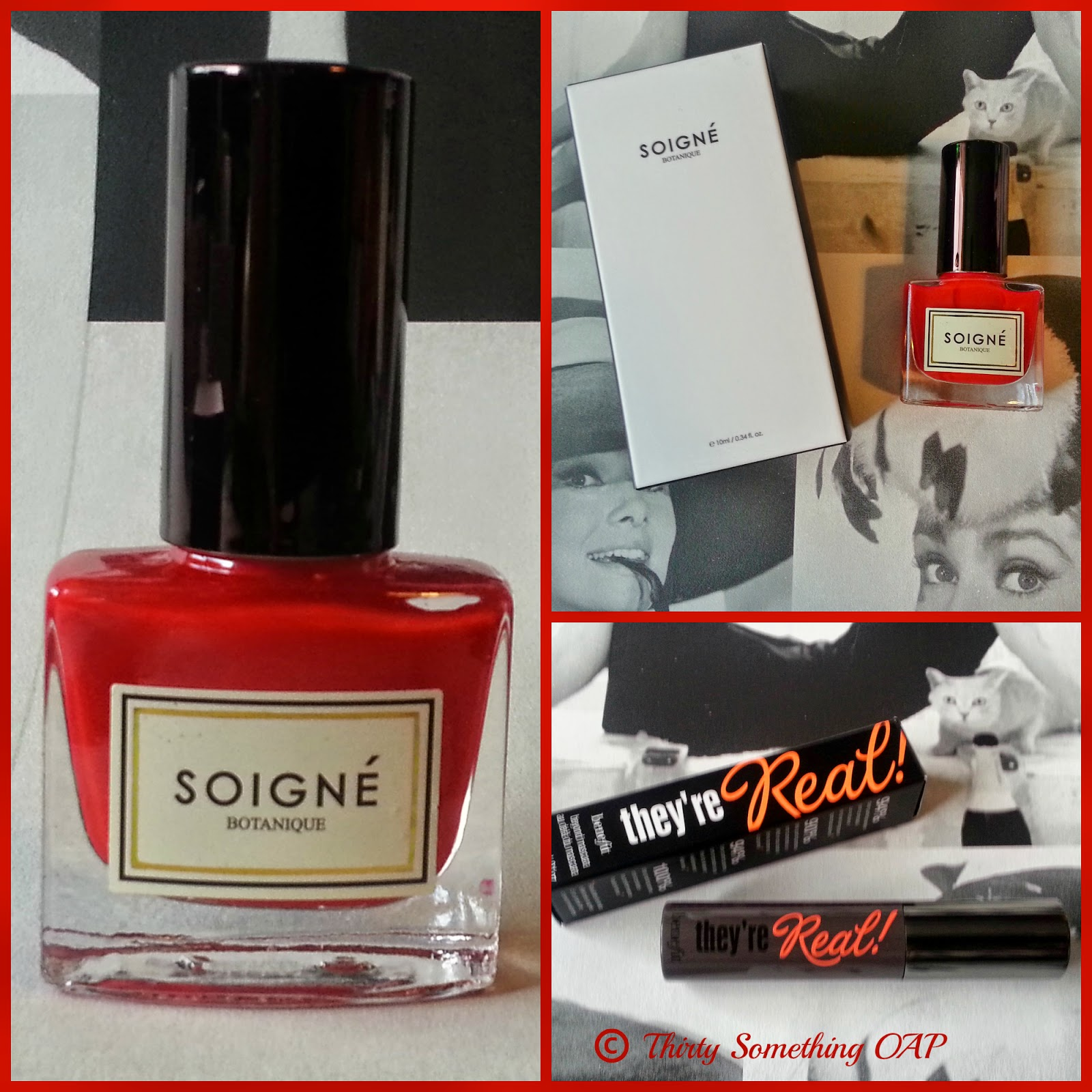 BENEFIT THEY'RE REAL & SOIGNE NAIL LACQYER