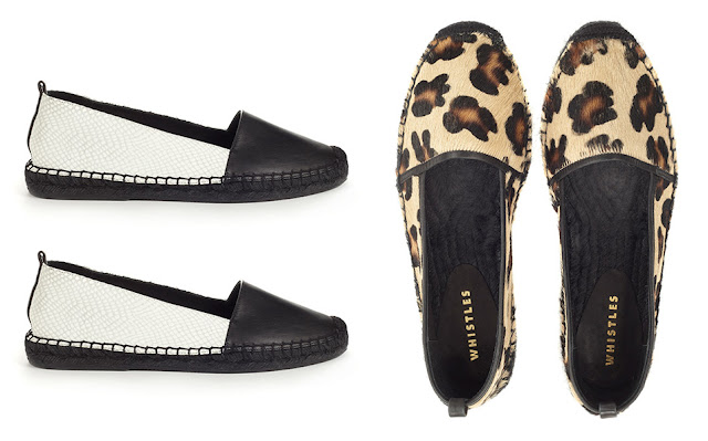 black and white leather espadrilles