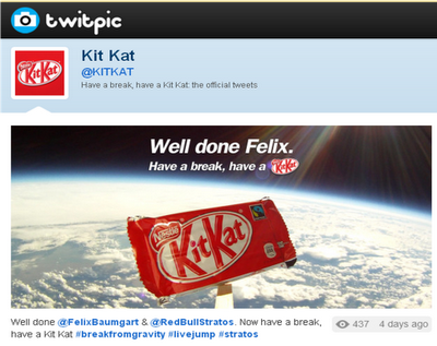 Kit Kat have a break Felix Baumgartner Twitpic