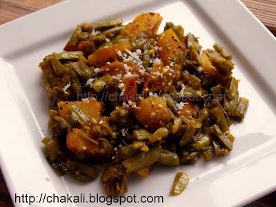 gawarichi bhaji, gavar bhaji, bawchi bhaji, guar sabzi, everyday cooking, Maharashtrian vegetables, bhaji recipe, shenganchi bhaji