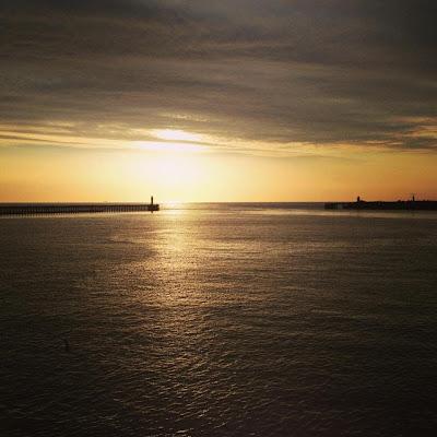 calais, sunset