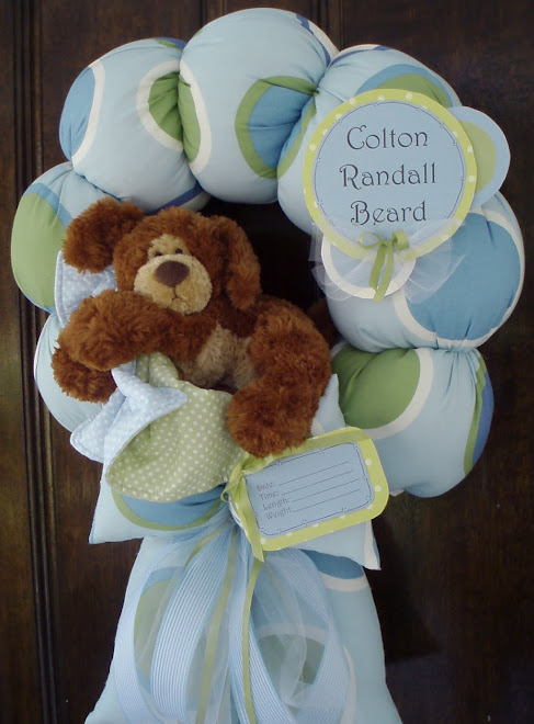 "93. custom ""baby Colton"" baby wreath"