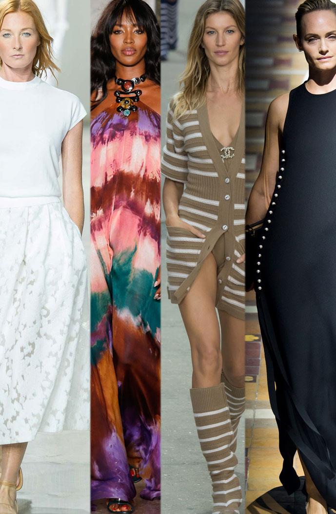 supermodels are back on runway | maggie riser, naomi campbell, gisele bundchen, amber valletta