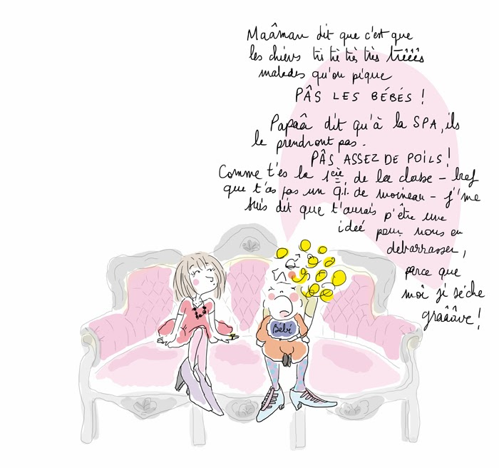 amour fraternel, la vie selon L, illustration de lucie paris legret