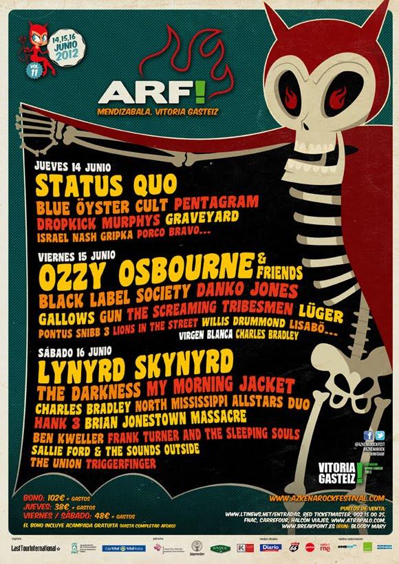 The Darkness, Status Quo, Lisabö… al Azkena Rock 2012