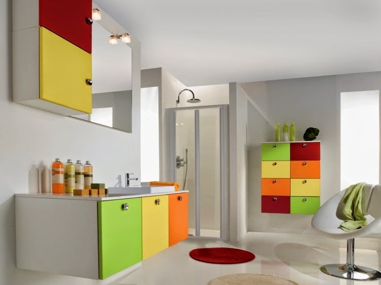 Sophisticated functional styles bathroom wall storage cabinets - Colorful cabinet designs for bathroom ...