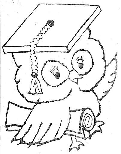 Graduation Owl Coloring Page