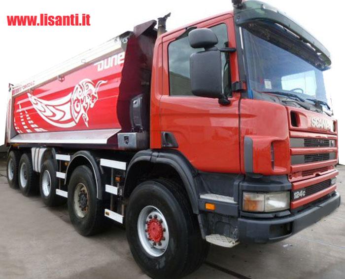 , Camion Usati E Mezzi Industriali Scania 124 C 10x4 Mezzo Dopera Con