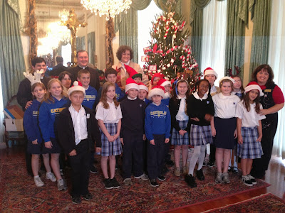 Montgomery Catholic Fourth Grade Class Invited to Decorate the Chancery Tree in Mobile 1