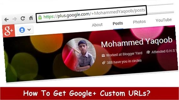How To Change Google Plus Custom URLs?