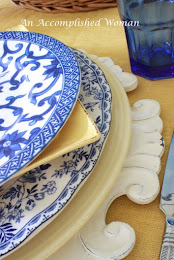 Navy and Yellow Table