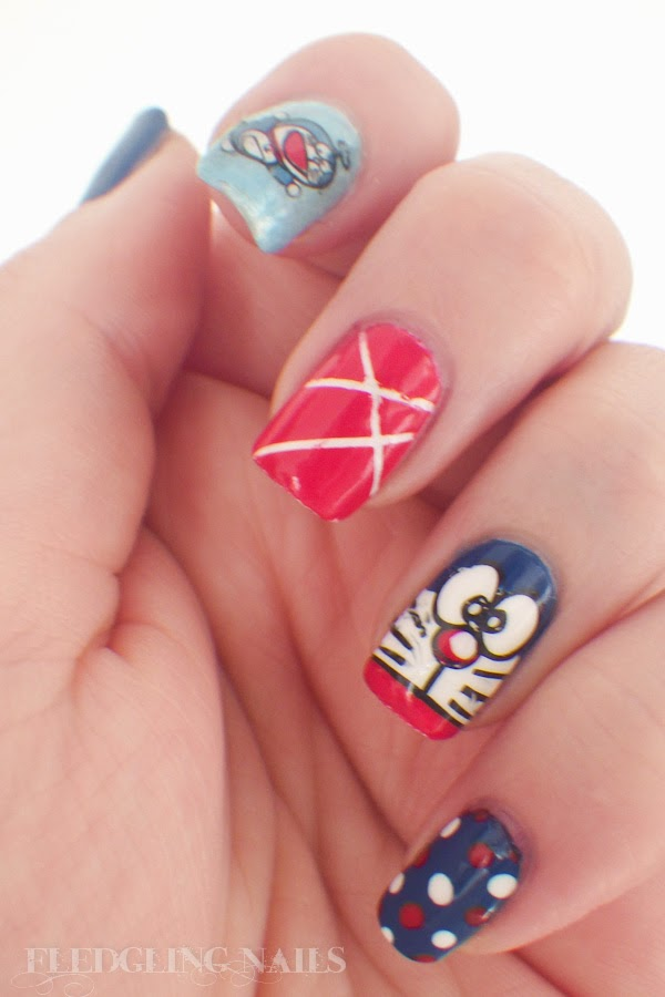 Fledgling Nails Notd Fingerfoods Theme Buffet 8 Cute
