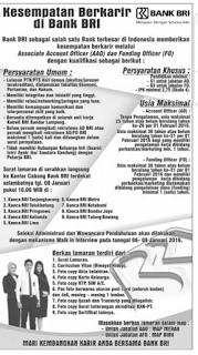 Lowongan Kerja BANK BRI Lampung - JANUARI 2016