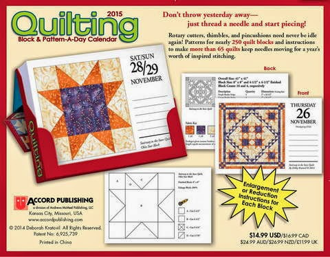 Ramblings of a Coffee Addicted Writer: 2015 Quilting Block & Pattern-A-Day Calendar Review