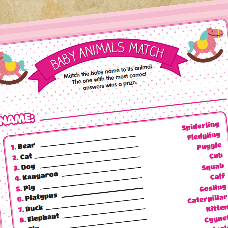 post about the printable baby shower games i just added to my store