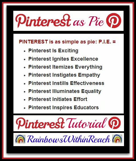 photo of: Pinterest as Easy as Pie from Pinterest 101 Tutorial at RainbowsWithinReach